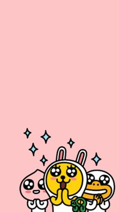 K Wallpaper, Wallpaper Backgrounds, Phone Backgrounds, Apeach Kakao, Cute Themes, Kakao Friends, Cartoons Love, We Bare Bears, Line Friends