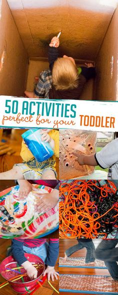 50 simple activities for toddlers - these will be perfect!