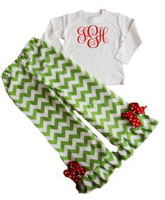 Boutique Christmas Chevron Clothing for kids from www.redelephantclothing.com
