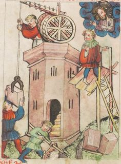 I don't think this had been builded that way, but what is clearly to see is that humans living this time of history did understand themselves this Size tall. Speculum Humanae Salvationis 1427 Cod. membr. 8 Folio 34v