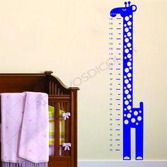 Adesivo para Parede Régua Girafa com Bolinhas - Adesivos Dicolar