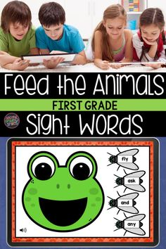 Practice reading sight words digitally with Boom Cards! Students will enjoy feeding the animals as they practice reading first grade sight words. Sound autoplays on each card instructing the player to feed the animal a given sight word. Great for digital literacy centers or at home high frequency word practice! Students will ask to play again and again! Teaching Vocabulary, Teaching Phonics, Teaching Kindergarten, First Grade Sight Words, Sight Word Practice, Second Grade, Word Work Games, Common Core Ela, Teaching First Grade
