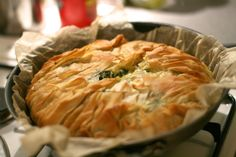 Jamie Oliver's Feta and Spinach Filo pie