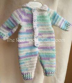 Free Crochet Baby Romper pattern by Tracy Wade- Newborn to 2 years- C Crochet Romper, Crochet Baby Clothes, Newborn Crochet, Moda Crochet, Free Crochet, Ravelry Crochet, Baby Knitting Patterns, Baby Patterns, Crochet Patterns