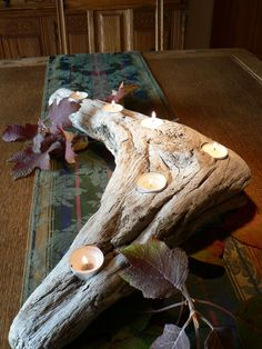 Unique rustic candle holder, Rustic beach decor, Beach Chic, Christmas gift idea,Cabin decor, Nature