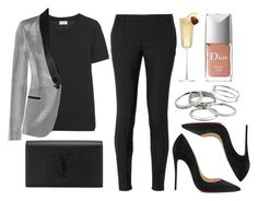"""""""Sin título #12121"""" by vany-alvarado ❤ liked on Polyvore featuring Yves Saint Laurent, Christian Louboutin, Christian Dior and Kendra Scott"""
