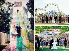cute carnival wedding