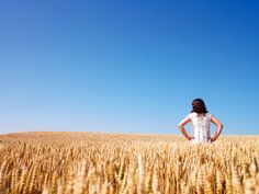 woman standing in a field of wheat Woman Standing, Mans World, Long A, Diversity, Agriculture, Put On, Articles, Daughter, Women