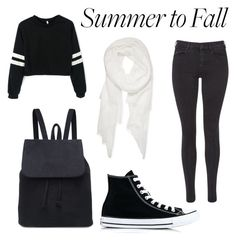 """""""Summer to fall"""" by cookiemonster22104 ❤ liked on Polyvore featuring Maison Scotch, Calvin Klein and Converse"""