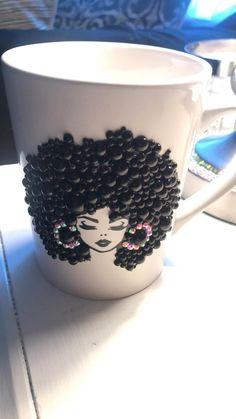 Coffee Mug Crafts, Diy Mug Designs, Clay Cup, Mug Art, Diy Mugs, Cute Mugs, Cute Coffee Mugs, Mug Decorating, Polymer Clay Crafts