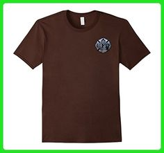 Mens The 9/11 Never Forget IAFF Union Firefighter Shirt Small Brown - Careers professions shirts (*Amazon Partner-Link)