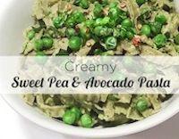 Creamy Avocado & Sweet Pea Pasta