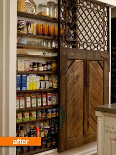 Old horse stall door turned pantry