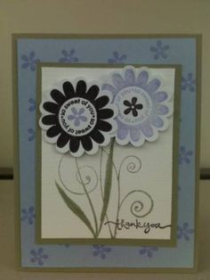 Stampin' UP! Flower Thank You Card