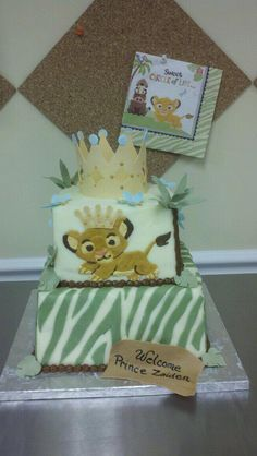 Lion king baby shower our  cake sample with personal changes added :)