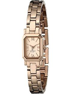 kate spade new york Women's 1YRU0632 Tiny Hudson Rose Gold Watch ❤ kate spade new york MFG