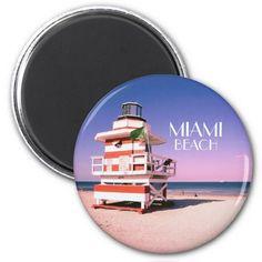 "50% Off!! ""Miami Beach Nr 1 Magnet"" use code: SALE3DAYSBMK #Miami #MiamiBeach #LifeguardTower #Hot #Summer #Sale"