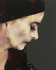 AFTER THE SHOW-08, Lita Cabellut (b1961, born a gipsy girl in the streets of El Raval in Barcelona, Cabellut was adopted at the age of 13)...