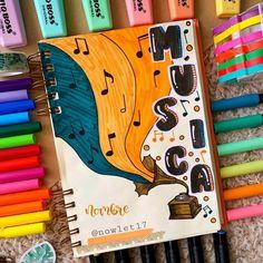 Bullet Journal Cover Ideas, Bullet Journal Banner, Bullet Journal Notebook, Bullet Journal School, Bullet Journal Inspo, Lettering Tutorial, Hand Lettering, Notebook Art, School Notebooks