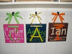 Baby Plaques – Vinyl Project. Cricut-ideas-projects # Pin++ For Pinterest #