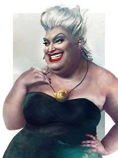 Disney Character Costume Ursula from The Little Mermaid in real life looks like Eric from Boy Meets World when he dressed up like a girl! - The Little Mermaid Disney Fan Art, Disney Pixar, Disney E Dreamworks, Disney Amor, Film Disney, Disney Animation, Disney Characters, Ursula Disney, Disney Villains Art