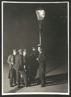 A photograph entitled 'Unemployed Men, Govan, Glasgow, taken by James Jarche for the Daily Herald in 1930