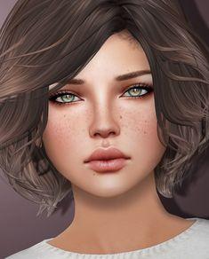 Credits: eyes: IKON - Sovereign Eyes (oxidation) (NEW!) eyelashes: Snow Rabbit - hair: Exile - Touch So Warm (@ Collab. Fantasy Art Women, Beautiful Fantasy Art, Beautiful Anime Girl, Fantasy Girl, Digital Art Girl, Digital Portrait, Second Life Avatar, Cute Girl Wallpaper, Character Portraits