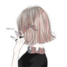 Cool Anime Girl, Pretty Anime Girl, Beautiful Anime Girl, Kawaii Anime Girl, Anime Art Girl, Anime Girl Drawings, Cute Drawings, Girl Cartoon, Cartoon Art