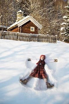 I remember making snow angels as a child. Would be so wonderful to be this carefree again.