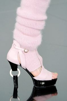 Chanel Pink Ring Heel Sandal Fall 2009 #Shoes #Heels #Couture
