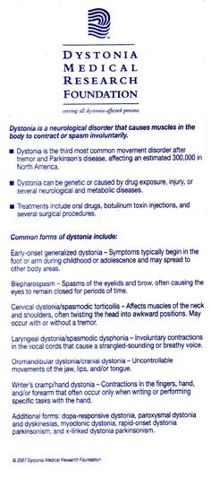 What is dystonia??? Check this out.Learn..and spread the word.