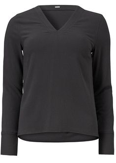 Bluse mørkegrå 22618 Stretch Top - 210 charcoal