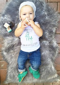 Pretty Fly for a Little Guy kids tank - Little Beans Clothing @littlebeans_co Hipster baby, hipster kids, fashion kids, baby jeans, baby moccasins, baby beanie