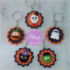 Chaveiros Halloween - Paty's Biscuit