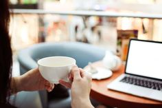 #adult #blur #bokeh #business #caf #close up #coffee table #computer #connection #cup #depth of field #drink #girl #healthy #indoors #internet #laptop #macbook #office #table #tea #technology #wireless #woman