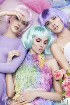 Pastel colors-The Secrets Of Monet's Garden, photography by Sarah Fountain for HUF Magazine - HUF Magazine Princesa Punk, Natalie Clifford Barney, Moda Kpop, Editorial Photography, Fashion Photography, Photography Magazine, Fashion Fotografie, Foto Fantasy, Foto Fashion