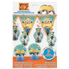 Amazon.com: Despicable Me Decoration Kit, 7pc set: Toys & Games