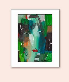 Abstract Paintings Portrait original works on paper by kuzennyArt, $24.00