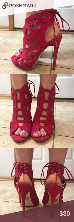 """Gorgeous heels!! Hot pink!!  4.75"""" heel 0.5"""" platform. Never been worn!!! Shoe Dazzle Shoes Heels"""