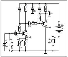 two transistor AM radio receiver circuit schematic in 2019