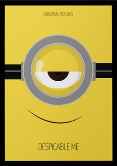 Despicable Me [Pierre Coffin & Chris Renaud, 2010] «Minimal Animation Movie Posters Author: Kareem Magdi»