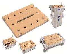 SYS-PLATE, arbetsstycke som är kompatibelt med bla Festools tvingar. Kopplas på Classic, Maxi, Drawer eller Rack systainer samt på SYS-CART.