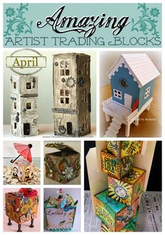 Amazing Artist Trading Blocks {April} | @ArtTheBlock #TheATB