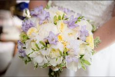 Lavendar and butter yellow bridal bouquet