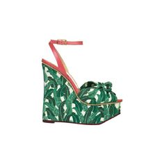 CHARLOTTE OLYMPIA ❤ liked on Polyvore featuring shoes, sandals, sandale, wedges, wedge heel sandals, wedge heel shoes, charlotte olympia, charlotte olympia shoes and wedge sandals