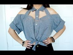 Video - DIY Cut-Out Collar Shirt