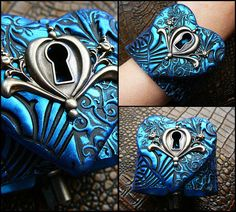 The key to my heart polymer clay cuff blacelet by adrianaallenllc, $20.00
