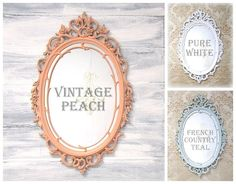SHABBY CHIC NURSERY Mirror Framed Decorative by RevivedVintage, $156.00