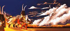 Diabloceratops, Victoria Papsco on ArtStation at https://www.artstation.com/artwork/8rvGn