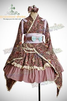 I like wa-lolita (lolita based on traditional Japanese clothing.) but it can be difficult to find examples that don't look awful. It's an easy style to mess up. This, I think, looks quite nice.